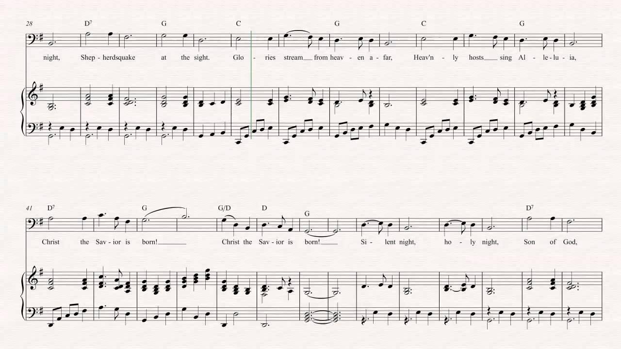 Tuba - Silent Night - Christmas Sheet Music, Chords, & Vocals ...