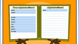 Alphabetize with Jojo - VocabularySpellingCity Games
