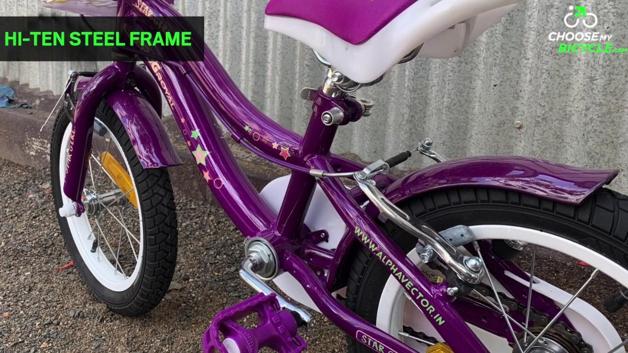 1 x Purple Tyre with White Line 14 x 2.125 Girls Bike Bicycle