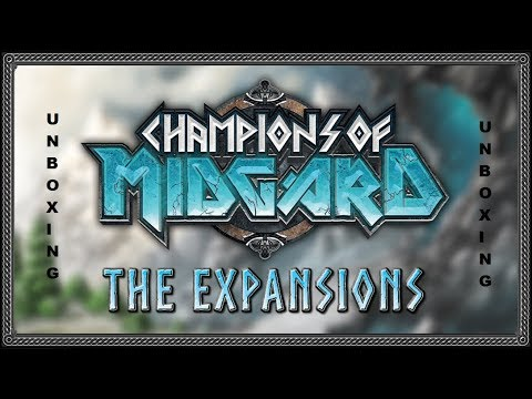 Champions of Midgard - The Expansions Unboxing ( Deutsch )