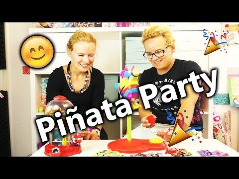 Piñata Party | Süßes Spiel für Kinder | Eva und Kathi denken sich eigene Regeln aus mit Center Shock