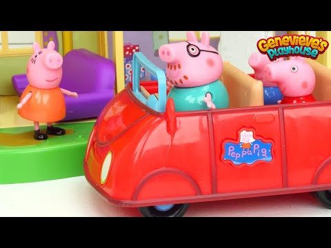 Best ♥Peppa Pig♥ Toy Learning Videos for Kids New House and Babysitting Baby Alexander!
