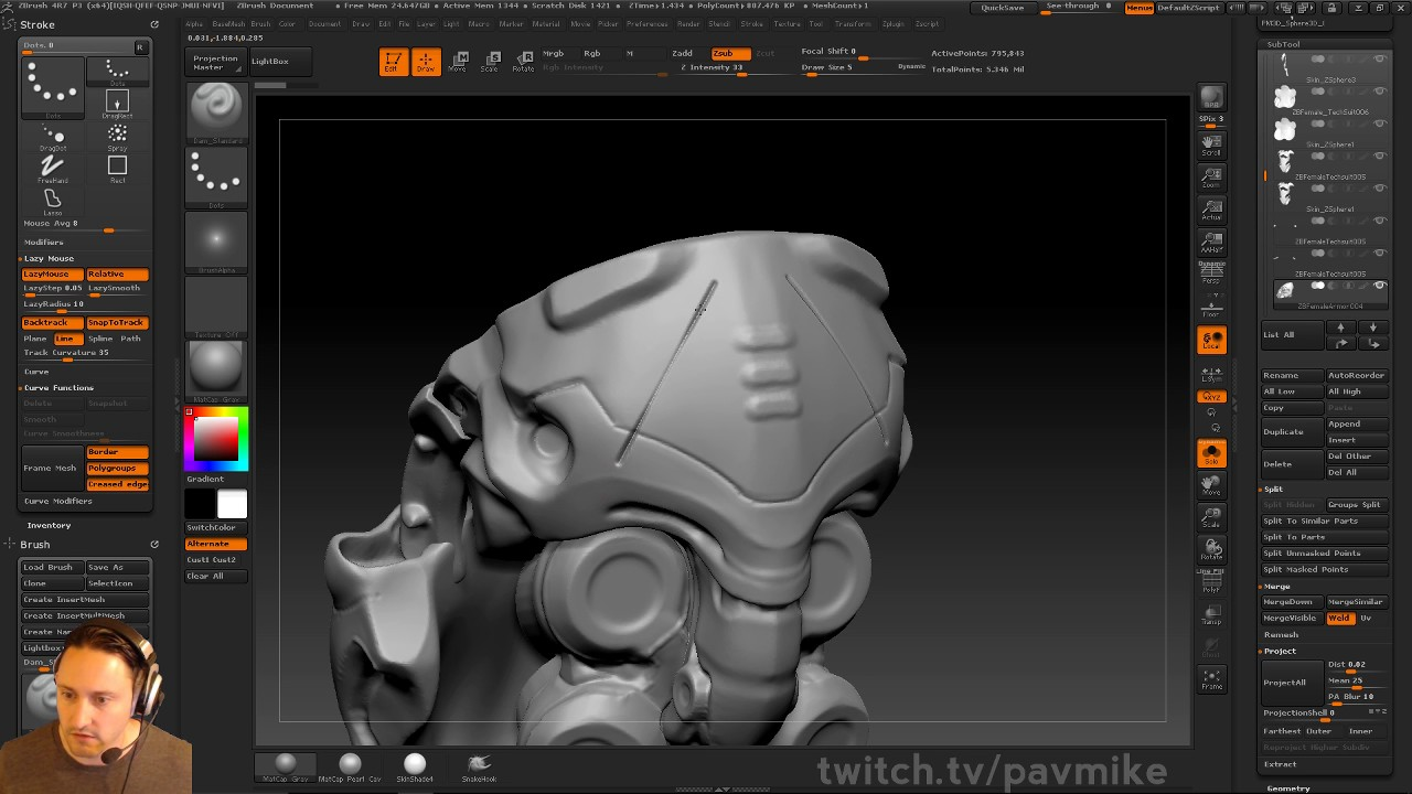Drawing Straight Lines With Brush In Photo : Pavwork11: straight lines in zbrush youtube