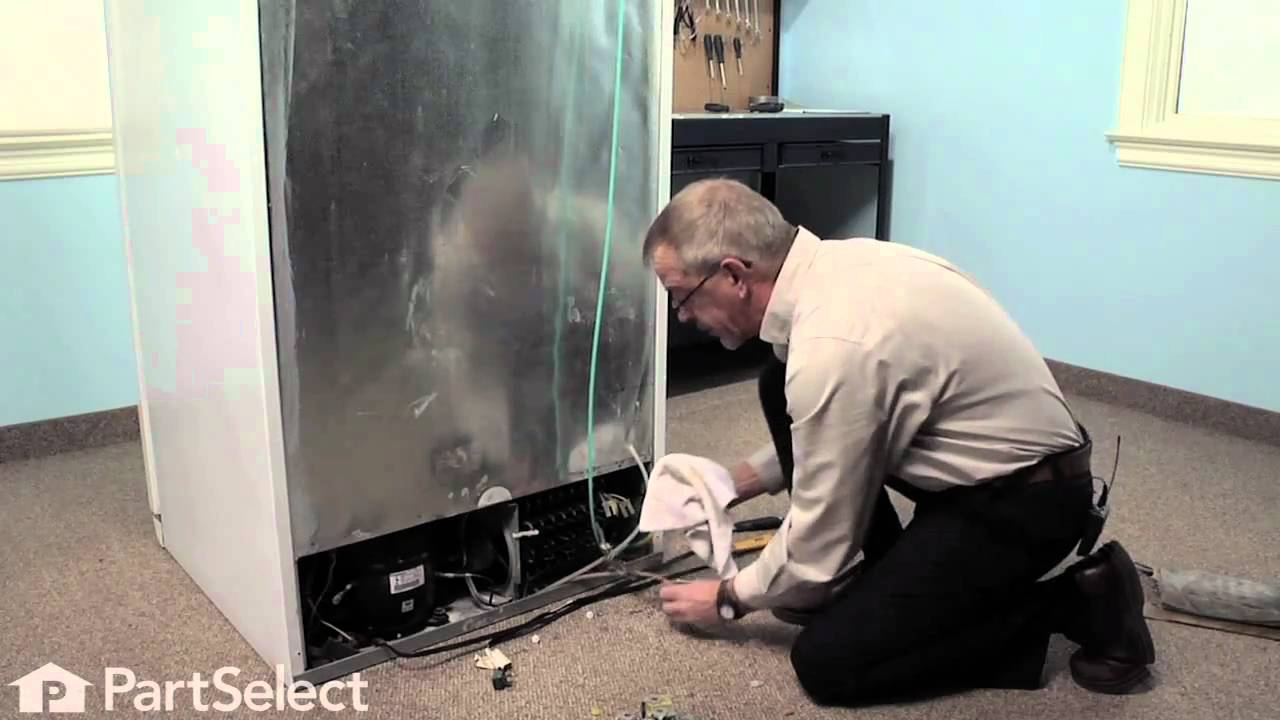 hight resolution of refrigerator repair replacing the triple solenoid water valve frigidaire part 241734301 youtube