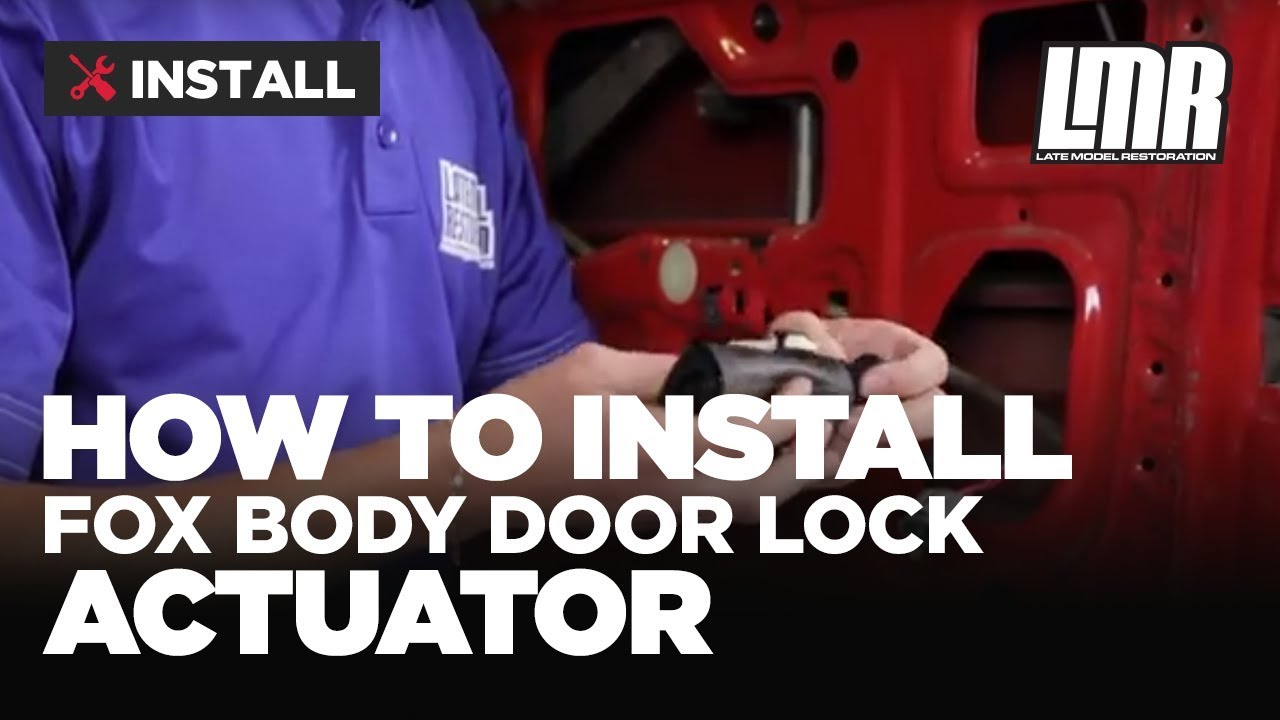Fox Body Mustang Door Lock Actuator Installation 79 93 Youtube 1986 Ford Wiring Diagram