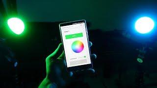 domotique ép8 contrôle de lumières rgb wifi avec node red