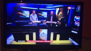 Barry Hall punches Mark Robinson on AFL 360