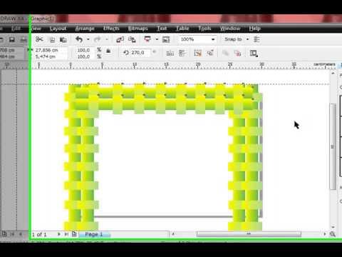 Tutorial Membuat Bingkai Dengan Coreldraw X4 Youtube