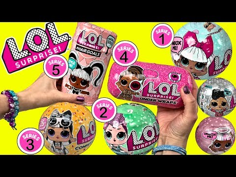 LOL Surprise Dolls Opening LOL Dolls Series 1,2,3,4,5 LOL Confetti Pop LOL Under Wraps + More LOL!