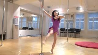 Kid Pole Dance - Jasmine's 1st Mini Routine