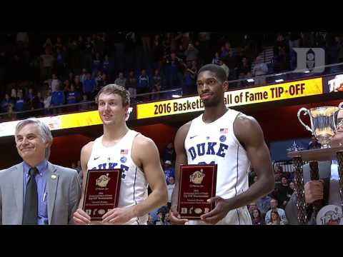DBP: Amile Jefferson with Luke Kennard after the Rhode Island win