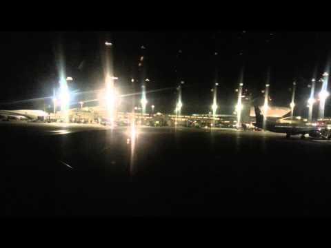 Tarom night-flight takeoff from Tel-Aviv to Bucharest