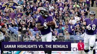 Lamar Jackson Crazy Rushing Highlights on Historic Day vs. the Bengals | Baltimore Ravens