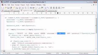 Beginner PHP Tutorial - 143 - Protecting the User Against SQL Injection
