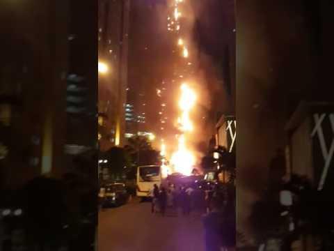 Central park Jakarta kebakaran
