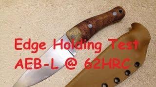 edge holding on aeb l 62hrc
