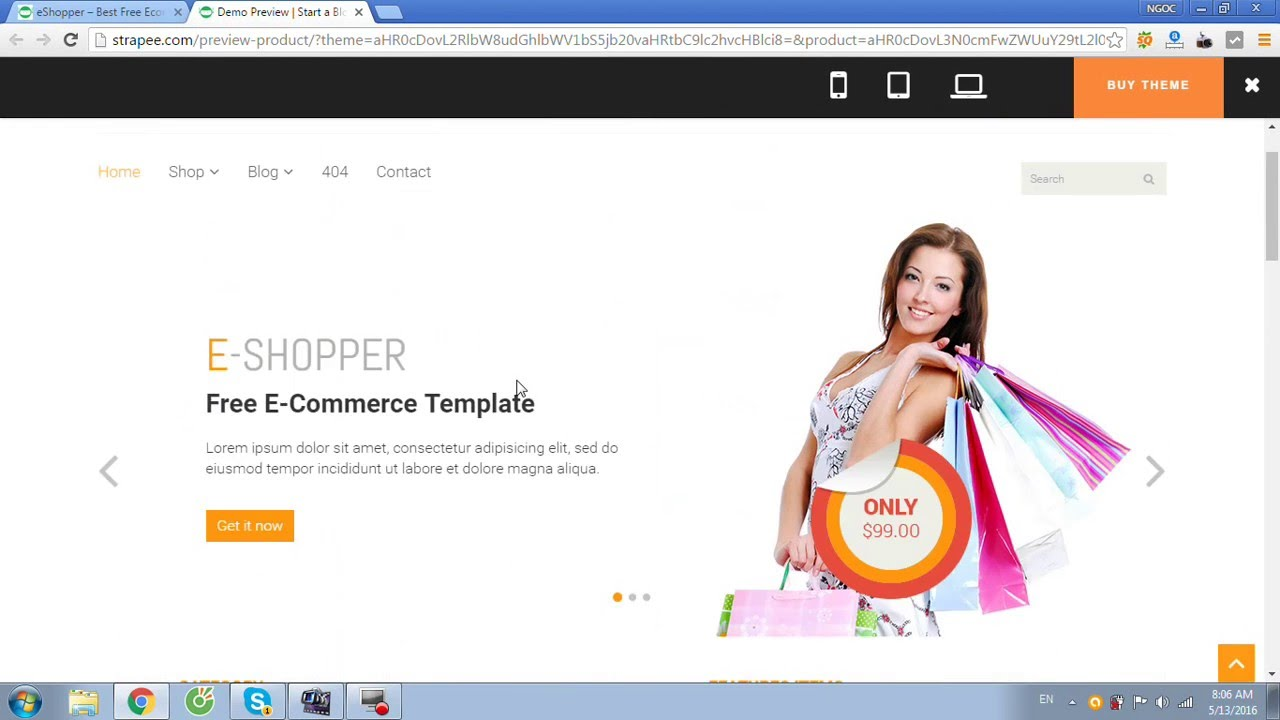 eShopper – Best Free Ecommerce HTML Template - YouTube