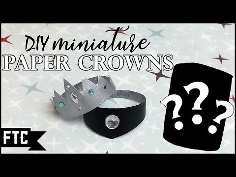 DIY Paper Crown Tutorial or How I was nearly defeated by paper.