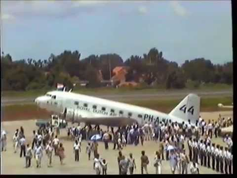 """1984 DC-2 """"Uiver"""" Arrival At Halim Airport, Jakarta - Indonesia"""