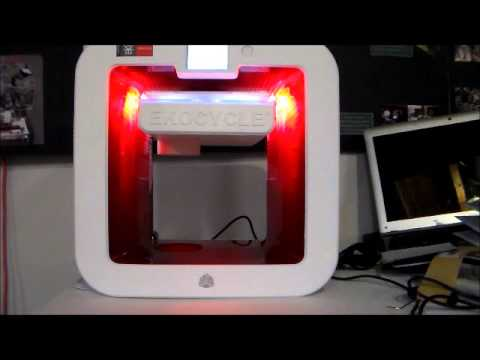 New EKOCYCLE 3D printer test - YouTube