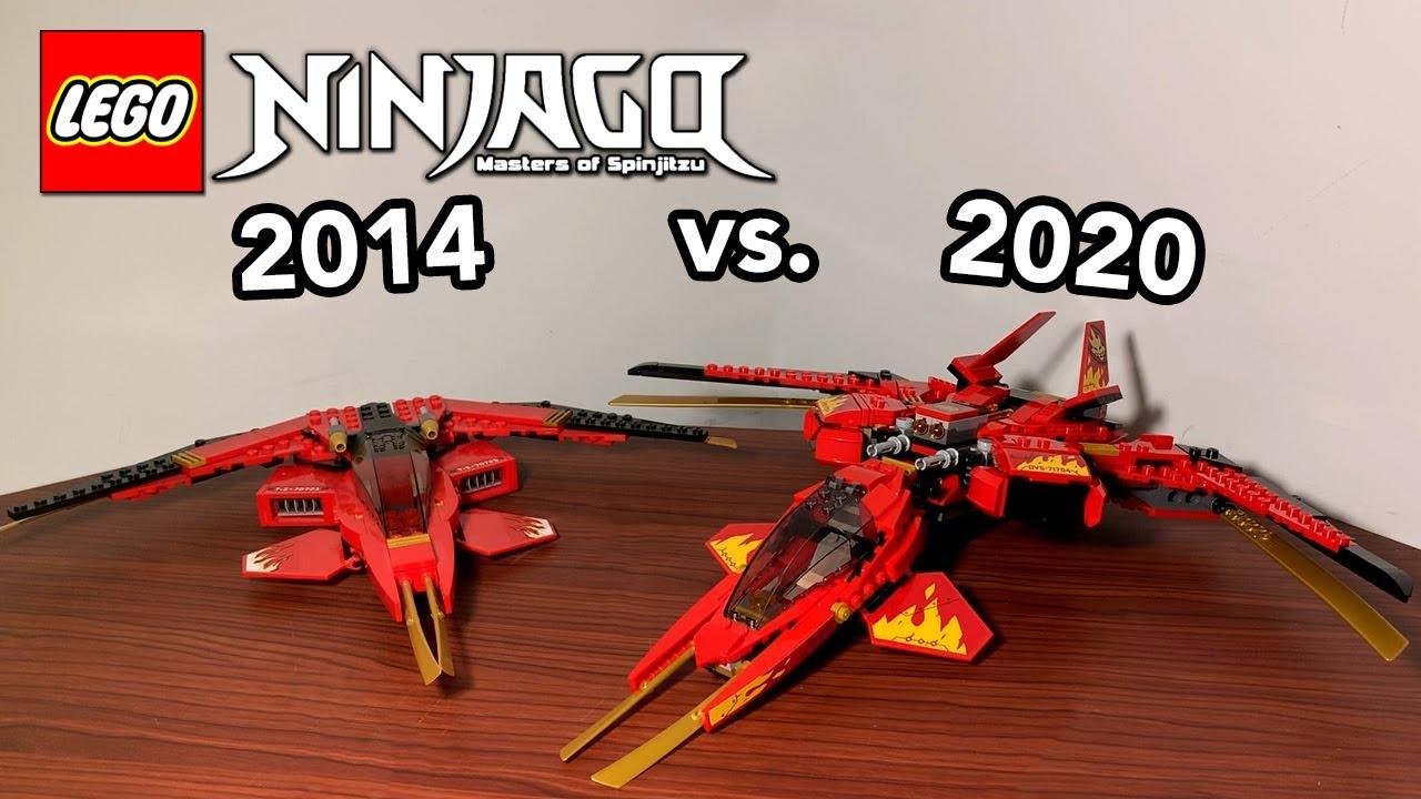 Lego Ninjago 2014 Kai Fighter Vs Ninjago Legacy 2020 Kai Fighter Comparison 70721 Vs 71704 Youtube