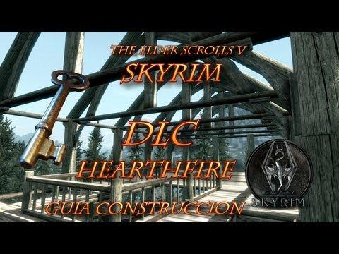 Skyrim DLC Hearthfire Video-Guía construye tres casas Español HD