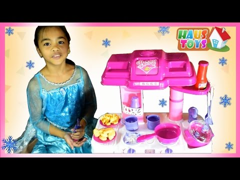 Toy Kitchen Set Cooking Playset For Children ❄ Cooking Toys For Kids by Haus Toys