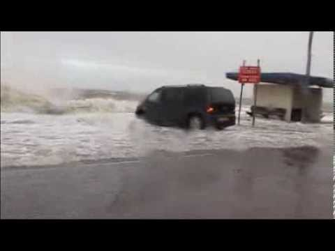 Winter storm and surge North Wales Flood Old Colwyn Bay December