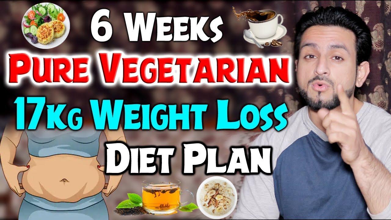 Pure Vegetarian 17Kg Weight Loss Diet Plan || 6 Weeks For Females