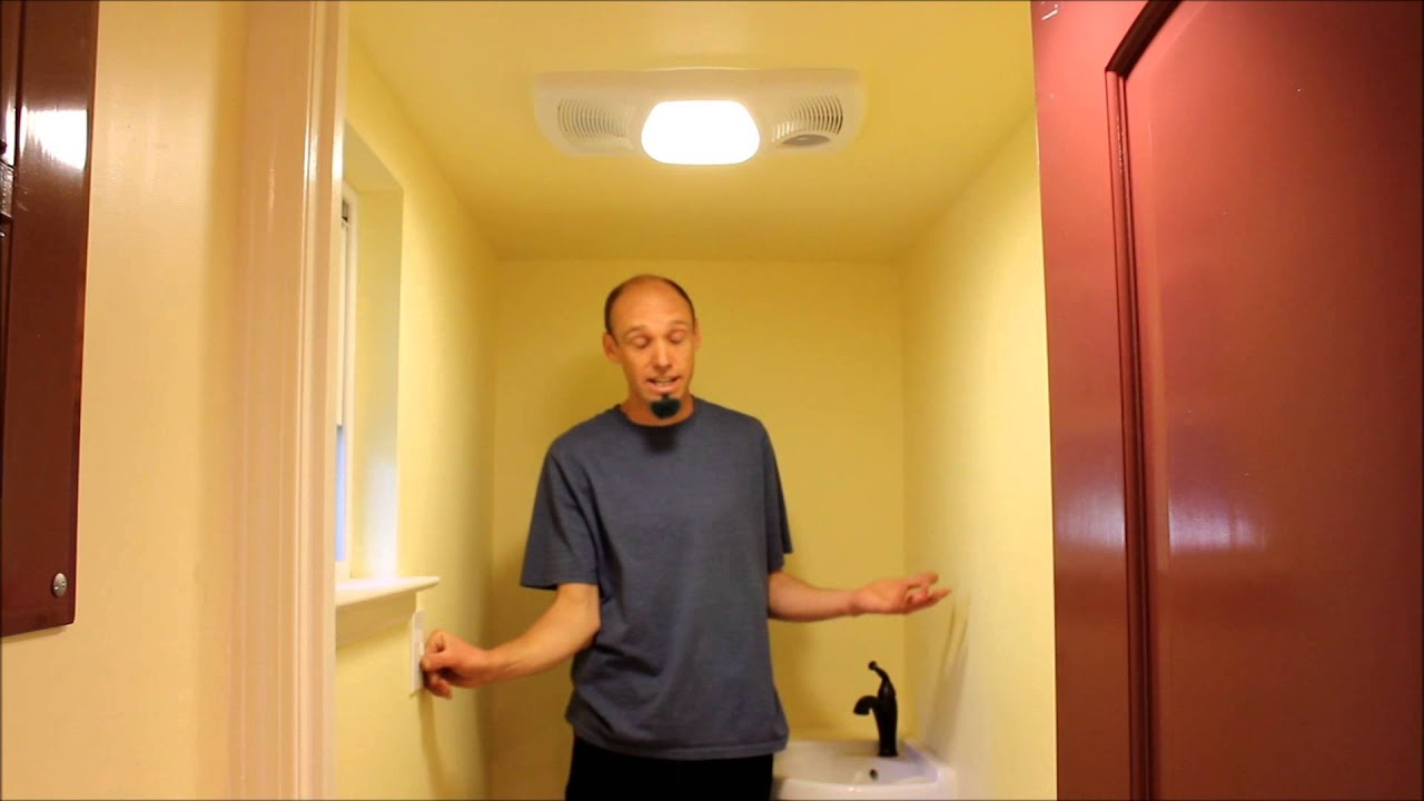 Bathroom Light Vent Tiny House With Bathroom Vent Heater And Recessed Lights Youtube