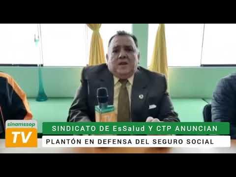 Secretario general del SINAMSSOP convocó al plantón de defensa de la Seguridad Social para este miér