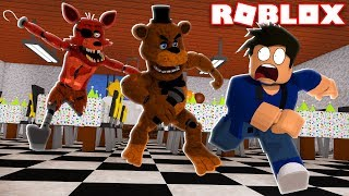 ESCAPE DOS ANIMATRONICS NA PIZZARIA DO FIVE NIGHTS AT FREDDY'S NO ROBLOX!!