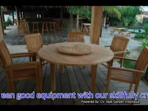 Indonesia Teak Garden Outdoor Furniture Making - YouTube