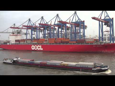 The Port Of Hamburg And Journey North On The River Elbe, Germany - 14th September, 2014