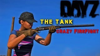 Dayz Standalone: The Tank! Intense Firefight [madness] Dayz Sa Gameplay Stream Highlight