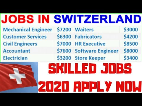 Jobs in Switzerland for Indian | Skilled Worker Jobs 2020