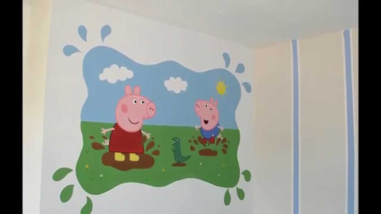Beautiful Peppa Pig Muddy Puddles Mural Time Lapse Part 21