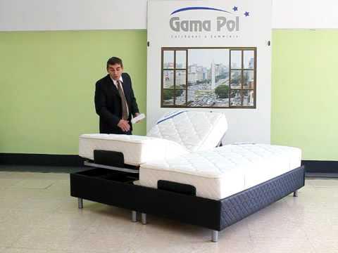 Gamapol cama youtube for Cama reclinable