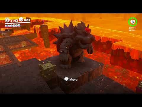 Super Mario Odyssey - Moon Kingdom Moon #9: Under The Bowser Statue