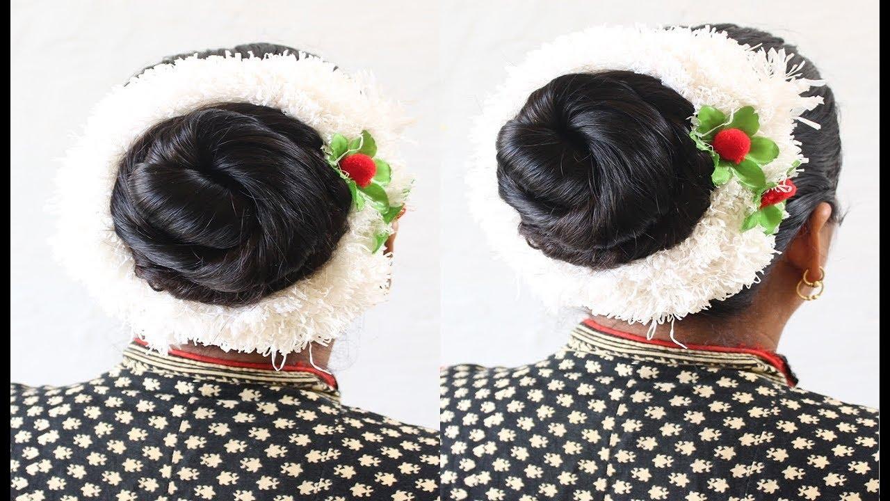 Best and Easy Juda Hairstyle | Bridal Bun hair style | Juda ...