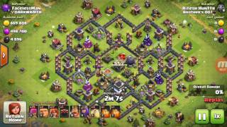 CLASH OF CLAN- HOW TO FIND RIGHT BASE TO ATTACK AND VALKYRIE:-BEST TH9 WAR STRATEGIC?BY RITESH DAGA.