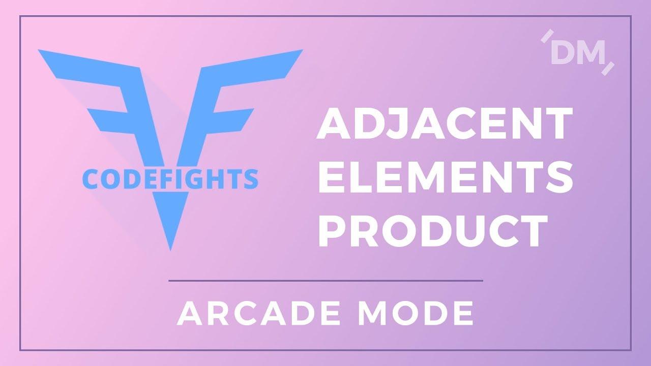CodeFights Intro Algorithms – Adjacent Elements Product