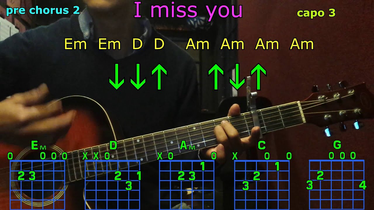 I Miss You Adele Guitar Chords Youtube