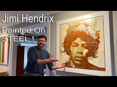 Building a Painting of Jimi Hendrix with Rust and Steel