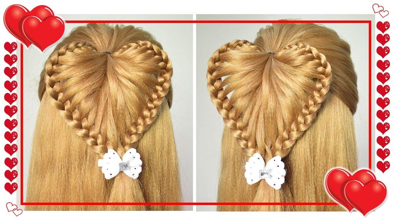 Peinados Corazon En Relieve Trenzas Para Ninas Fiestas La