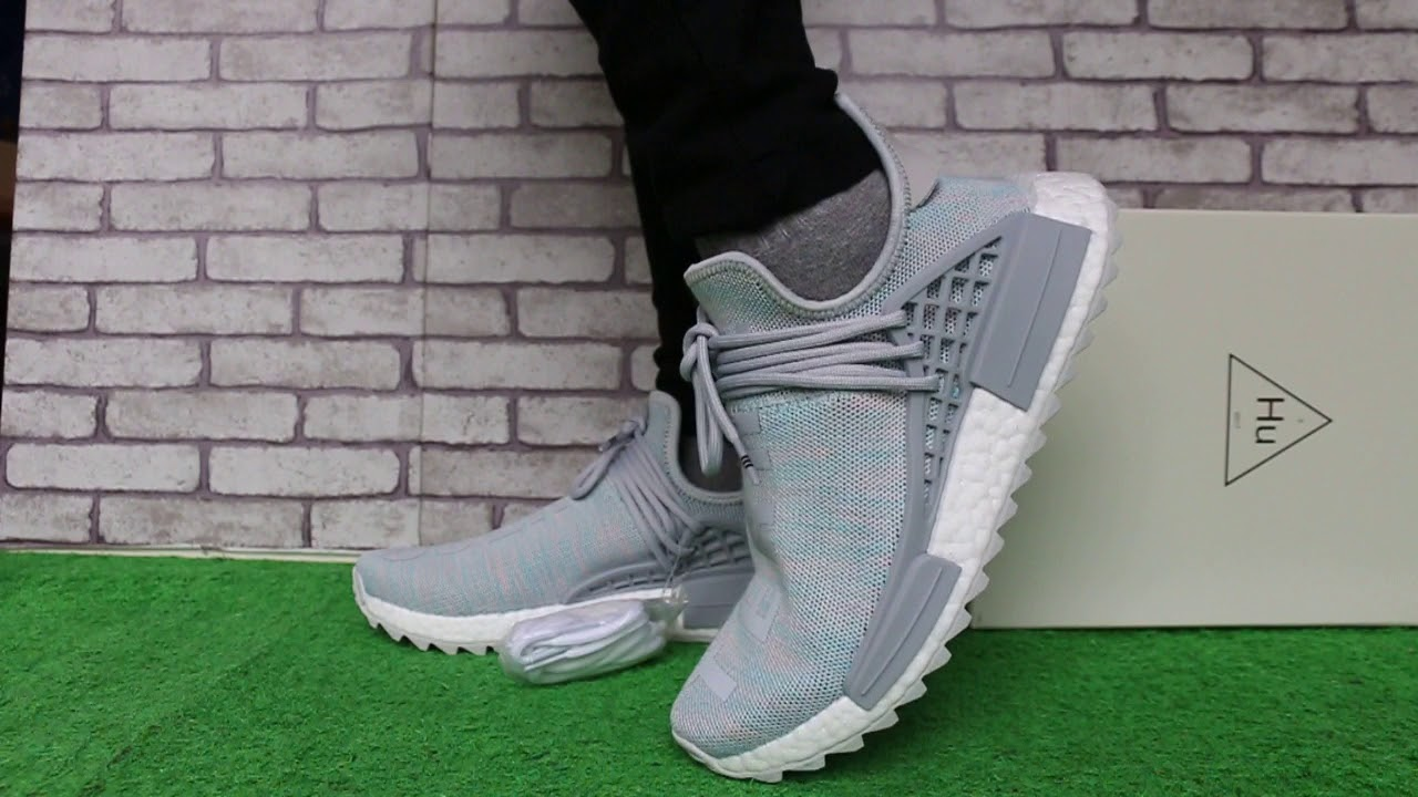 ac5e17b0ab388 Pharrell x adidas Originals NMD Human Race TR BBC Exclusive - YouTube
