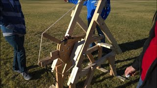Murlin 5 Arm Trebuchet Golf Ball 300 Feet How To Instructions Tips