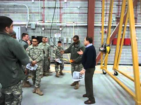 Training the U.S. ARMY how to Properly use a 5 Ton Gantry Crane with Wire Rope Hoist