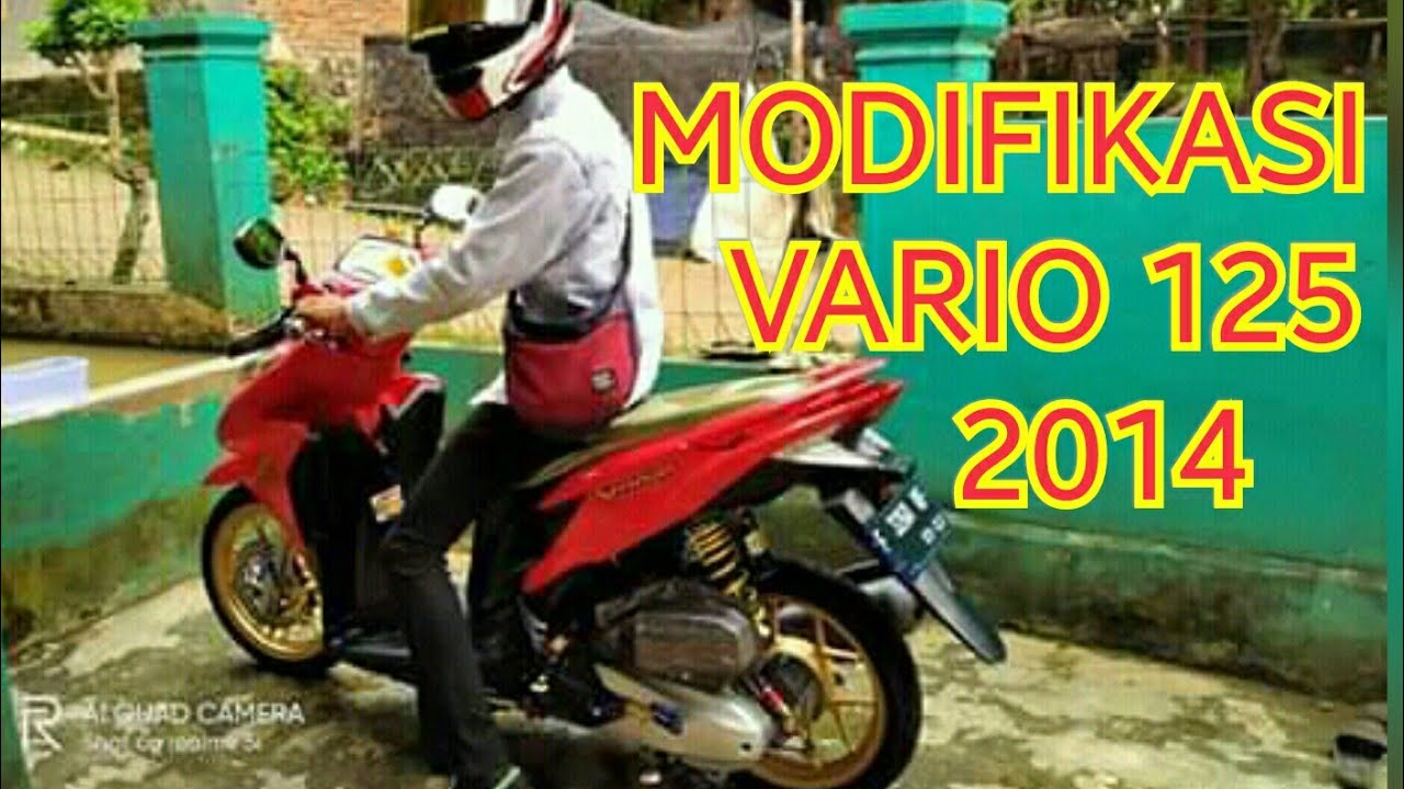 Modifikasi Motor Vario Techno 125 Youtube