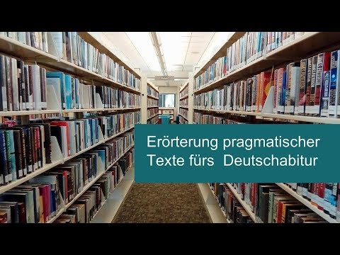 aufbau der errterung pragmatischer texte texterrterung fr die abiturprfung deutsch - Textgebundene Erorterung Beispiel Klasse 12